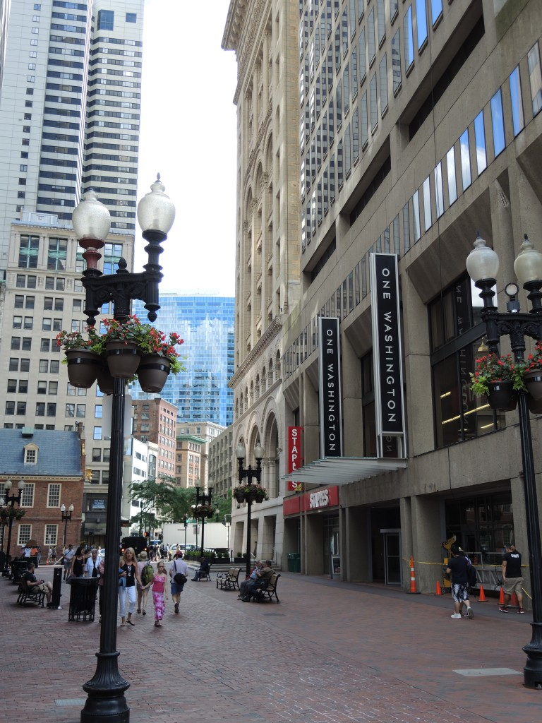 Walking toward Downtown from Government Center