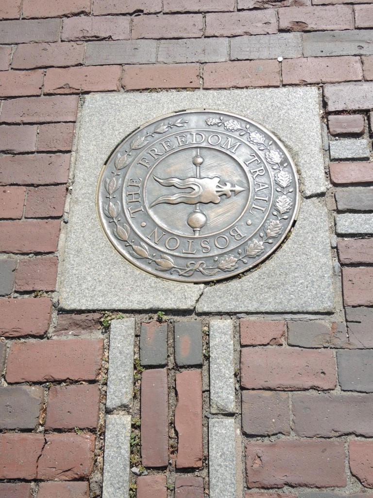 Start of the Freedom Trail by the State House
