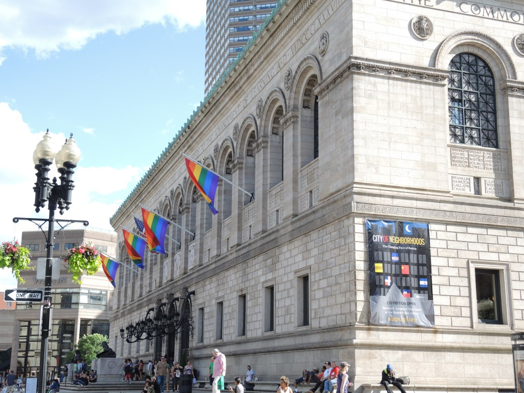 The Boston Public Library during Pride Week 2014