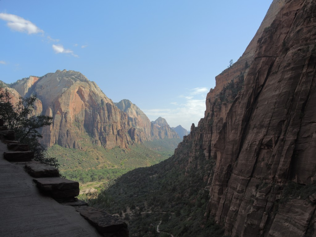 View from the start of Angels Landing