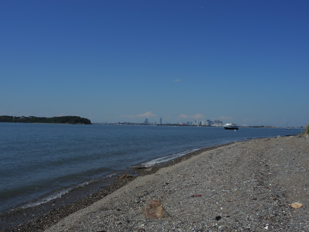 Spectacle Island and Ferry in the Distance